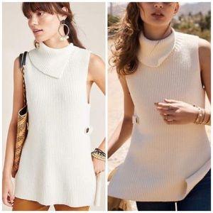 Anthropologie knit tunic Alexia cowl neck Medium